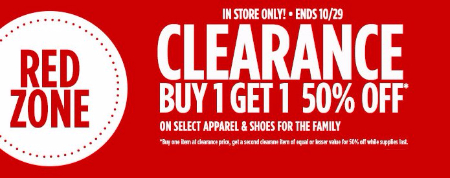Clearance B1G1 50% Off