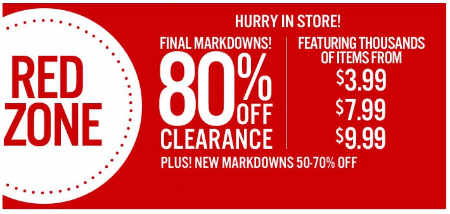 80% Off Clearance