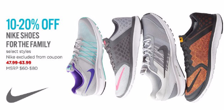10-20% Off Nike Shoes for the Family