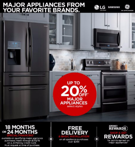 Up to 20% Off Major Appliances