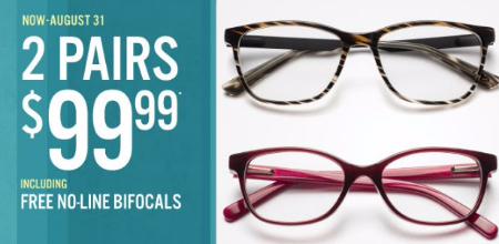 2 Pairs of Glasses for Only $99.99
