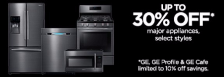 Up to 30% Off Major Appliances From Your Favorite Brands