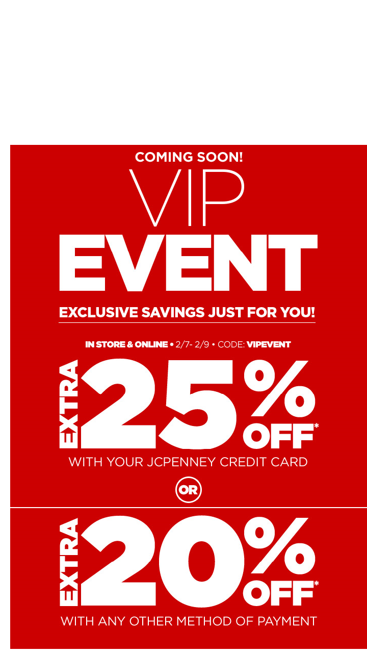 VIP Event! Extra 25% Off