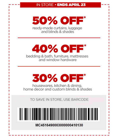 50% Off Ready-Made Curtains, Luggage & Blinds & Shades at jcpenney