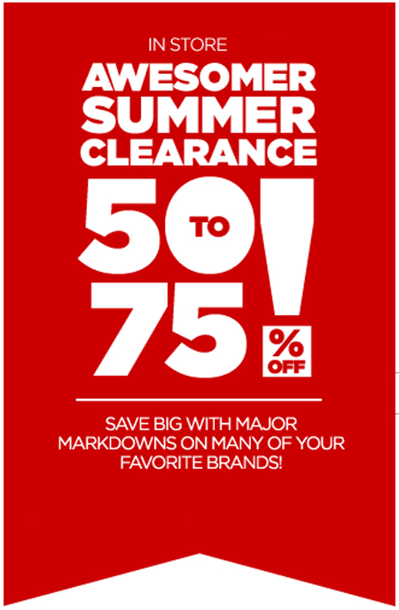Summer Clearance at jcpenney