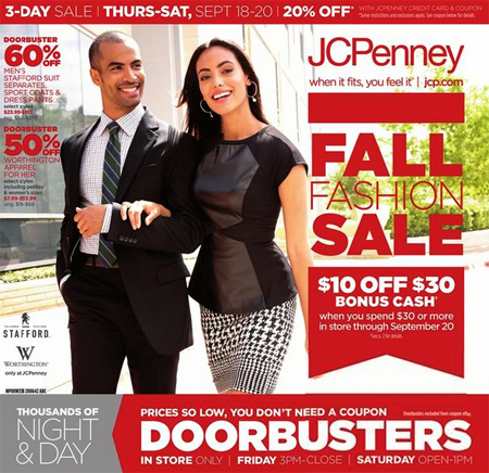 Fall Fashion Sale at JCPenney