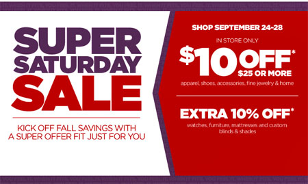 Super Saturday Sale At Jcpenney