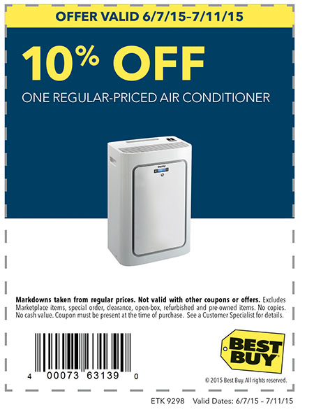 10% Off Air Conditioner at Best Buy
