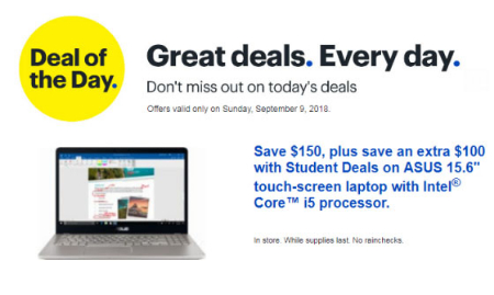 The Rim Shopping Center Deal Of The Day At Best Buy 09 09 2018