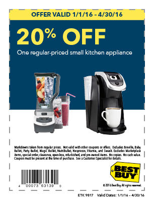 20% off One Regular-Priced Small Kitchen Appliance
