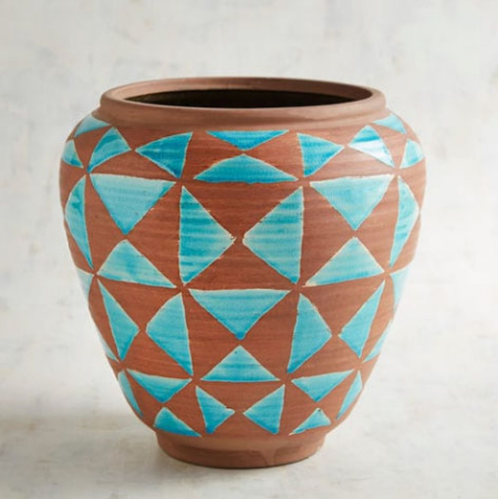 The Shops On Lane Avenue Turquoise Triangles Vase Pier 1 Imports