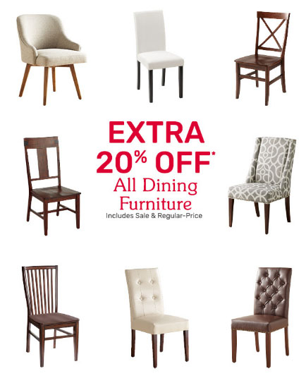 Extra 20% Off All Dining Furniture
