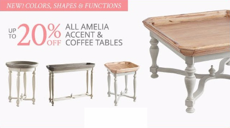 Up to 20% Off All Amelia Accent & Coffee Tables
