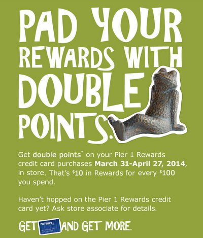 Get A $10 Reward For Every $100 You Spend at Pier 1 Imports