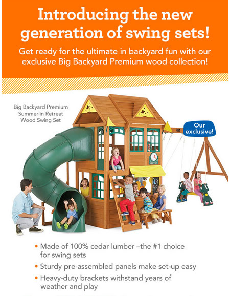 Introducing The New Generation of Swing Sets at Toys-R-Us