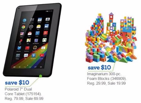 $10 Off Polaroid Tablet & Imaginarium Foam Blocks at Toys-R-Us