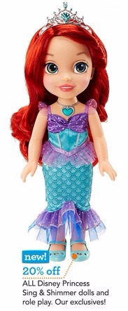 20% Off All Disney Princess Sing & Shimmer Dolls at Toys-R-Us