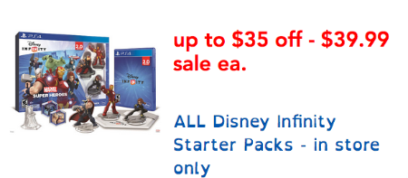 Up to $35 Off Disney Infinity Starter Packs