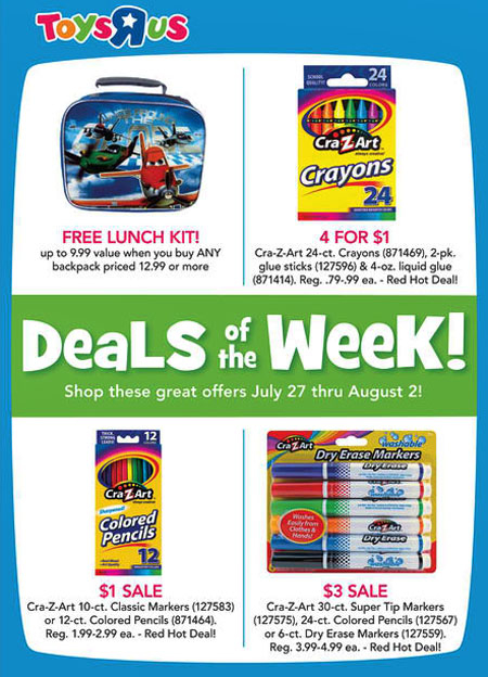 Weekly Specials at Toys-R-Us