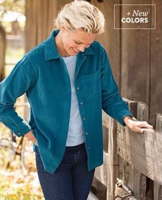 Shop Our Comfort Corduroy Big Shirt