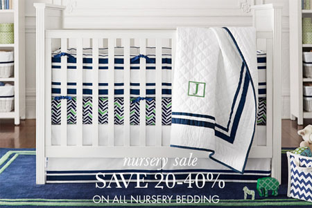 Save 20-40% on All Nursery Bedding at pottery barn kids