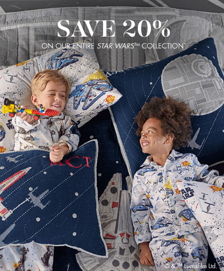 20% Off Entire Star Wars Collection at pottery barn kids