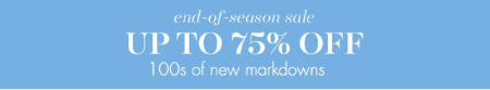 Up to 75% Off End-Of-Season Sale at pottery barn kids