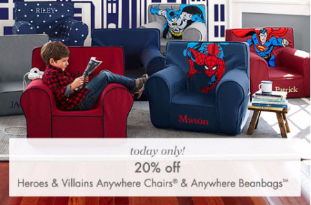 20% Off Heroes & Villains Chairs & Beanbags