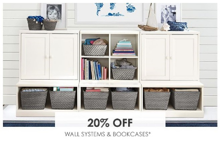Marketfair 20 Off Wall Systems Bookcases Pottery Barn Kids