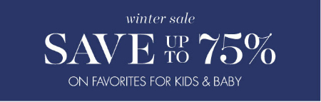 Up to 75% Off Winter Sale at pottery barn kids