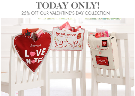 25% Off Our Valentine's Day Collection at pottery barn kids