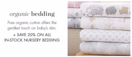 20% Off All In-Stock Nursery Bedding