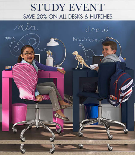 Study Event at pottery barn kids