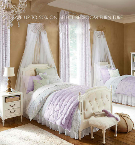 Up to 20% Off Bedroom Furniture at pottery barn kids