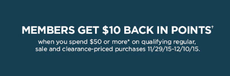 Members Get $10 Back in Points