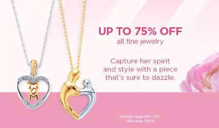 Up to 75% Off All Fine Jewelry