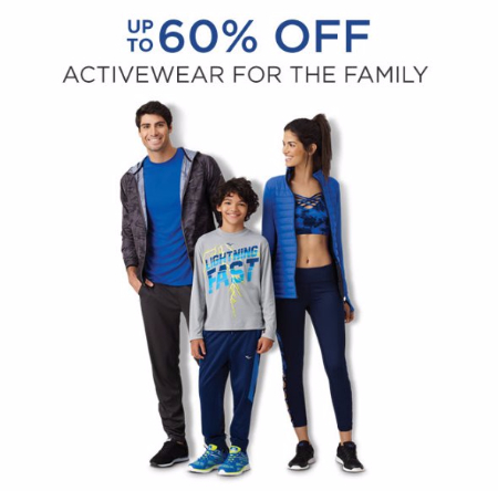 Up to 60% Off Activewear for the Family