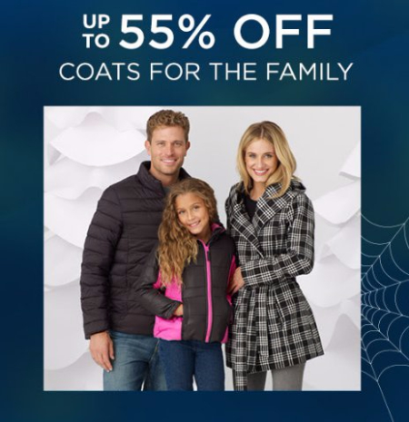 Up to 55% Off Coats for the Family