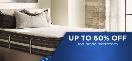 Up to 60% Off Top-Brand Mattresses