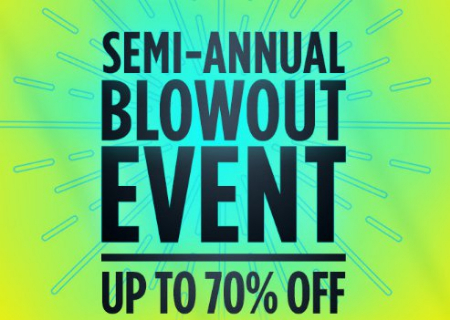 Semi-Annual Blowout Event up to 70% Off