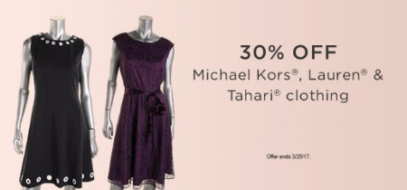 30% Off Michael Kors, Lauren & Tahari Clothing
