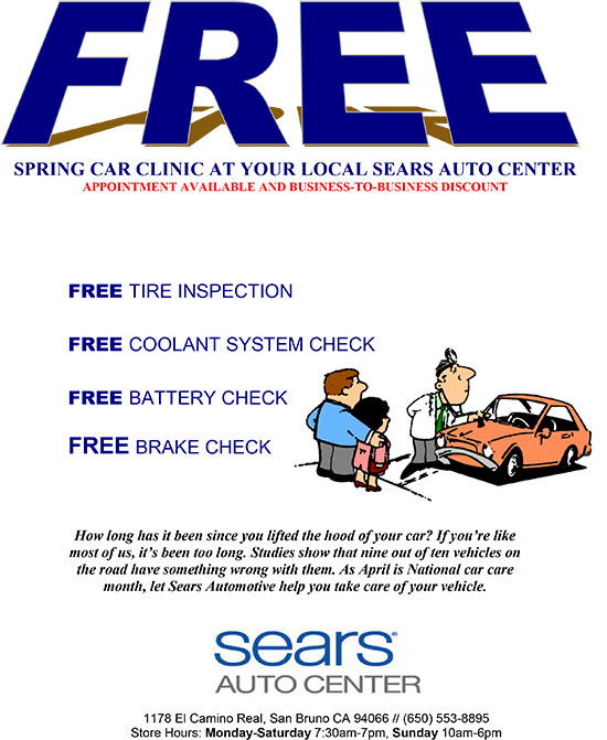 FREE Spring Car Clinic at Sears