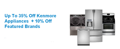 Save on Kenmore Appliances at Sears