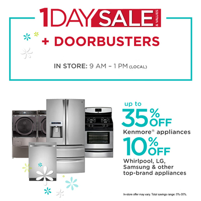 1 Day Sale/Doorbusters at Sears