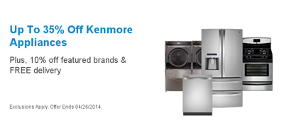 Up to 35% Off Kenmore Appliances at Sears
