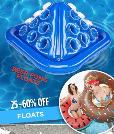 25–60% Off Floats