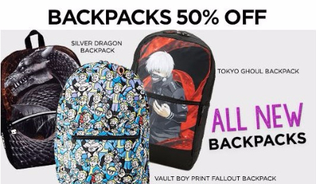 50% Off Backpacks
