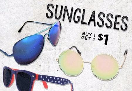 Sunglasses BOGO for $1