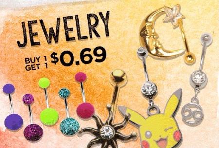 Jewelry BOGO for $0.69