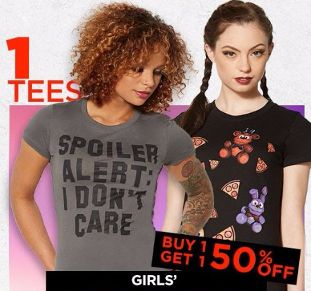 BOGO 50% Off Girls' and Boys' Tees